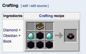 Enchantment Table Recipe